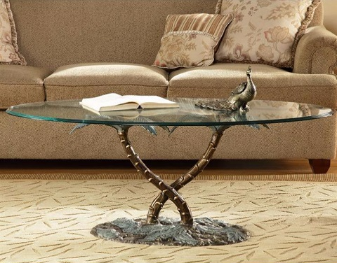 Palm Tree Coffee Table 33918 from SPI Home
