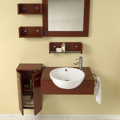 "Stile 26"" Modern Bathroom Vanity and Cabinet Set FVN3520 from Fresca"