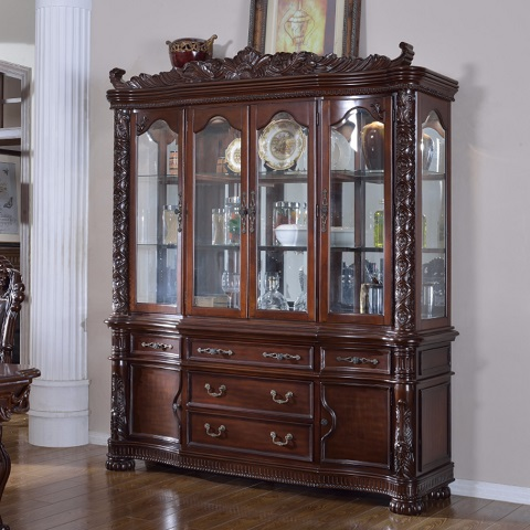 Barcelona Buffet With Hutch China Cabinet 701-HB from Meridian Furniture