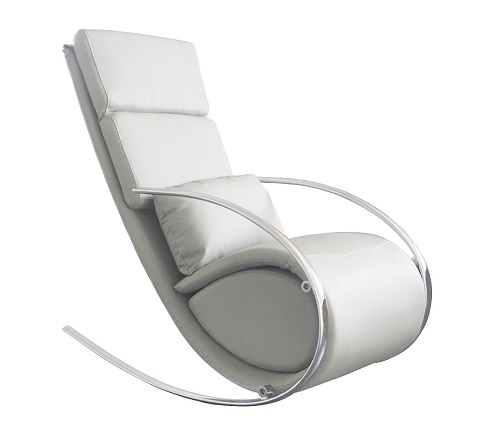 Chloe Rocker Chair And Ottoman RC1028P from Whiteline Imports