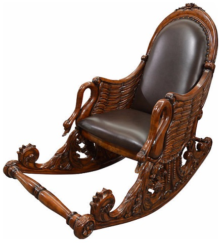 Mahogany Swan Rocking Chair PTM-9001-0149 from AFD