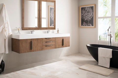 "Mercer Island 72"" Double Bathroom Vanity 389-V72-LTO-A from James Martin Furniture"
