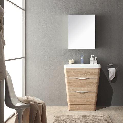 "Milano 26"" Bathroom Vanity FVN8525WK from Fresca"