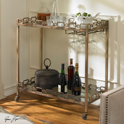 Nicoline Iron Serving Cart 24307 from Uttermost