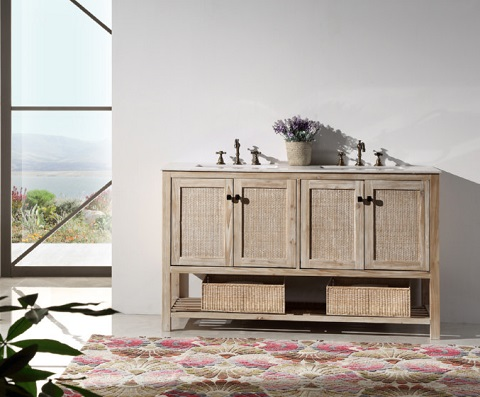 "White Washed 48"" Wood Vanity WH5148 from Legion Furniture"