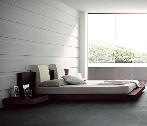 Win Floating King Bed (With Lights) T2666BBB83206 from Rossetto Furniture