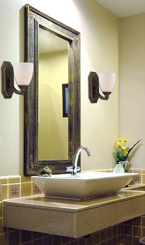 Vanity Bathbar in Aged Bronze 570-1B-WS-LED from Elk Lighting