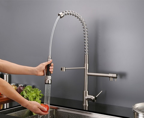 Alori Commercial Style Kitchen Faucet RVF 1209ST from Ruvati