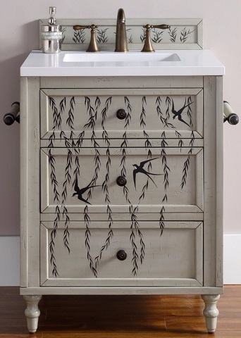 Single Hand Painted Bathroom Vanity, 300-V26-HP01 by James Martin