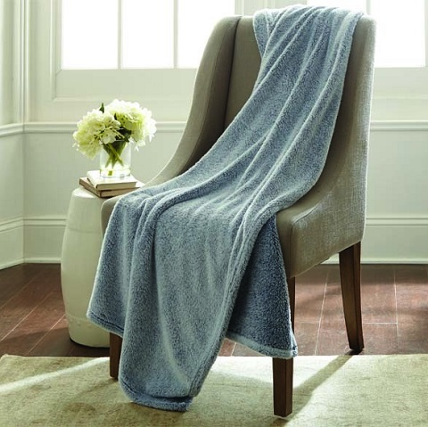 Allure Velvet Touch Two Tone Throw in Indigo 5VELTCHG-IND-ST from Amrapur