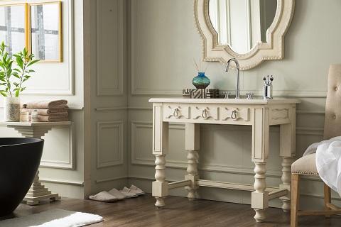 """Castilian 39"""" Single Bathroom Vanity in Vintage Vanilla 161-V39-VV-A from James Martin Furniture"""