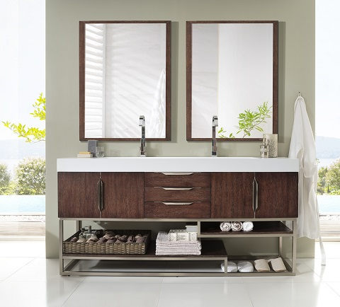 Double Bathroom Vanity, 388-V72-CFO-A by James Martin