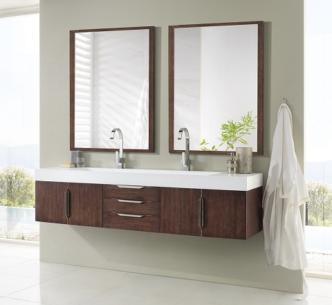 "Mercer Island 72"" Double Bathroom Vanity in Coffee Oak 389-V72-CFO-A from James Martin Furniture"