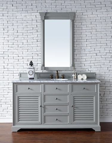 "Savannah 60"" Single Bathroom Vanity in Urban Gray 238-104-V60S-UGR from James Martin Furniture"
