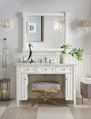 "Brittany 48"" Single Bathroom Vanity in Cottage White 651-V48-CWH"