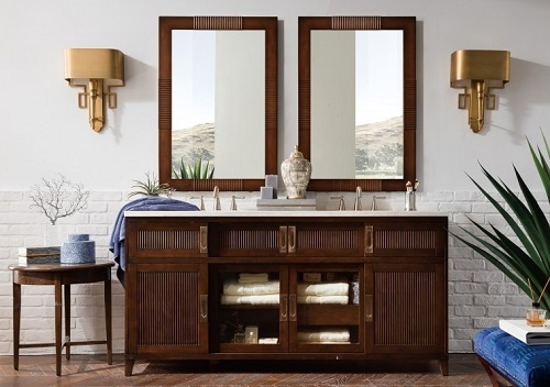 "Brisbane 72"" Double Bathroom Vanity 516-V72-WME in Warm Espresso from James Martin Furniture"