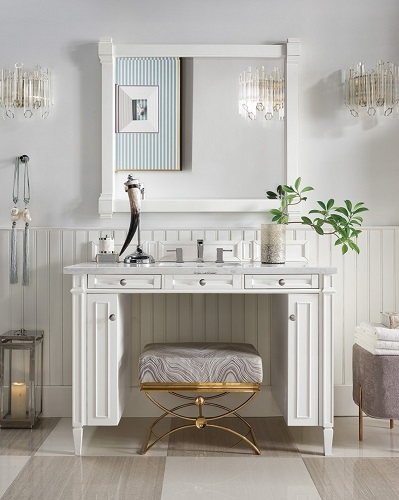 "Brittany 48"" Single Bathroom Vanity in Cottage White 651-V48-CWH from James Martin Furniture"