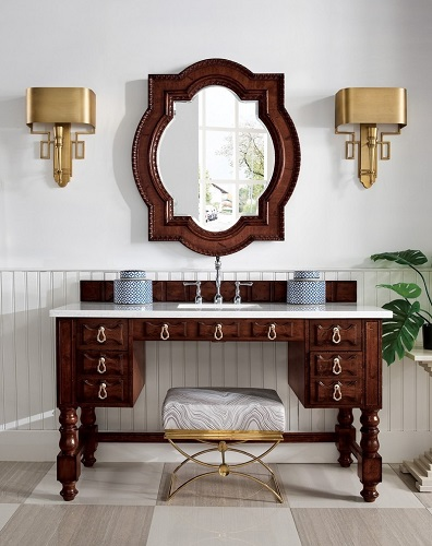 "Castilian 60"" Single Bathroom Vanity in Aged Cognac 161-V60S-ACG from James Martin Furniture"