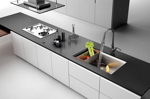 "Roma 32"" Single Bowl Kitchen Sink RVH8300 from Ruvati"