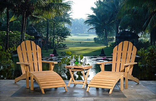 Adirondack Chair With Footstool HJ030 from Chic Teak