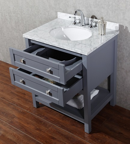 "Marla 30"" Single Bathroom Vanity HD-6868G-30-CR from Stufurhome"
