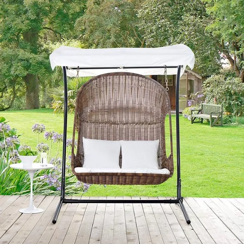 Vantage Outdoor Patio Swing EEI-2278-BRN-WHI-SET from Modway Furniture