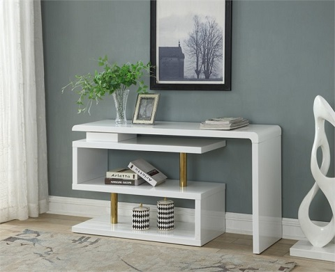 Pivot Desk 13642 In Majestic White from Coast To Coast Imports
