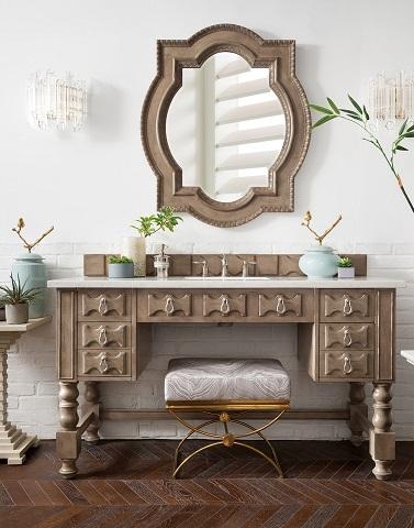 "Castilian 60"" ADA Approved Bathroom Vanity in Empire Gray 161-V60S-EG from James Martin Furniture"