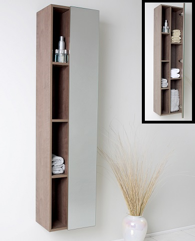Senza Gray Oak Bathroom Linen Side Cabinet FST8070GO from Fresca