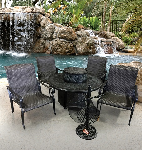 Wyndemere 5 piece Chat Set With Gas Table GF-LD3061-21-80 from AFD