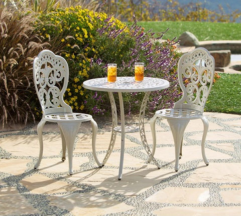 Fiesta Three Piece Bistro Set in Sand Beige GF-LD1060-SB from AFD