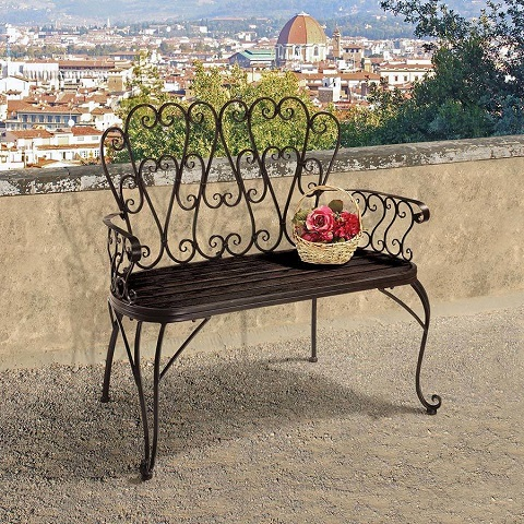 French Quarter Garden Bench ZJ12718 from Toscano