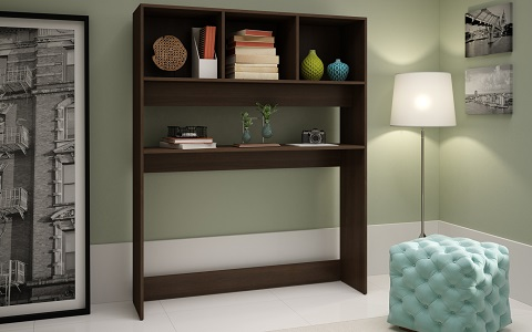 Aosta Display Desk in Tobacco 81AMC49 from Manhattan Comfort