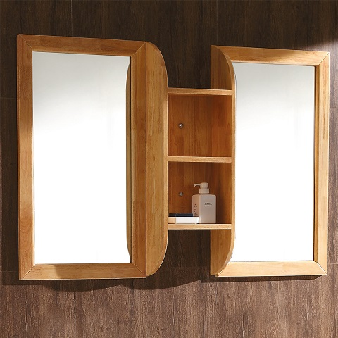 "Bellezza 54"" Natural Wood Mirrors With Shelf Combination FMR6119NW-SHF from Fresca"
